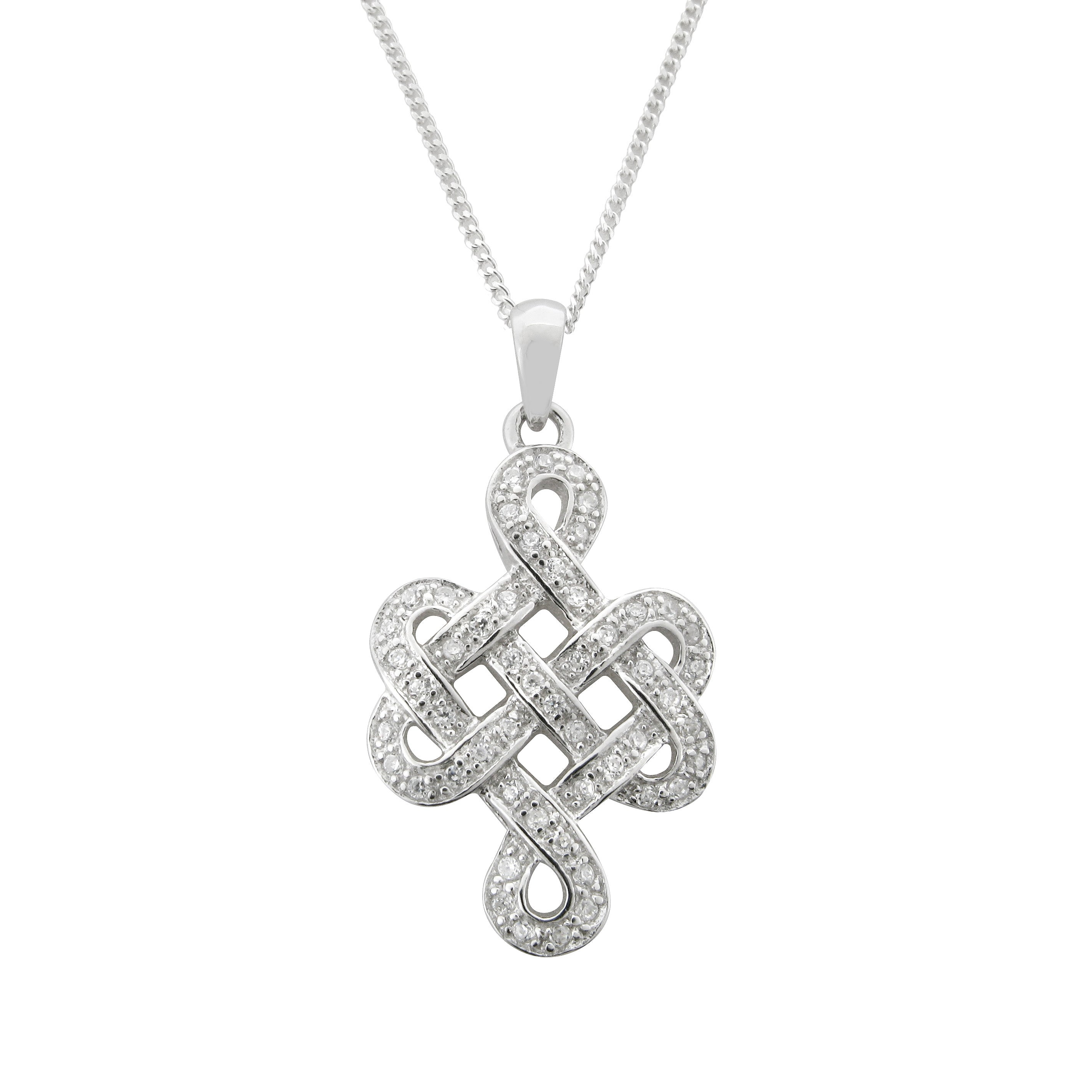 Celtic Weave Symbol Sterling Silver Necklace