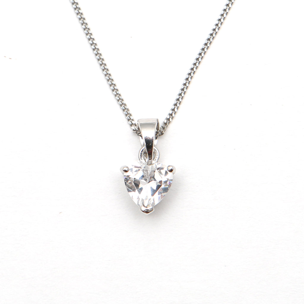 Sparkly heart pendant