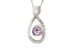 Amethyst Stone Sterling Silver Necklace