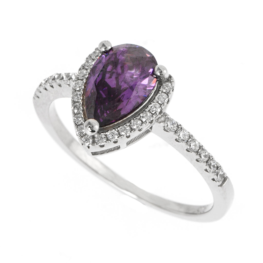 Purple Pear Ring