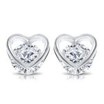 Sparkly heart earrings