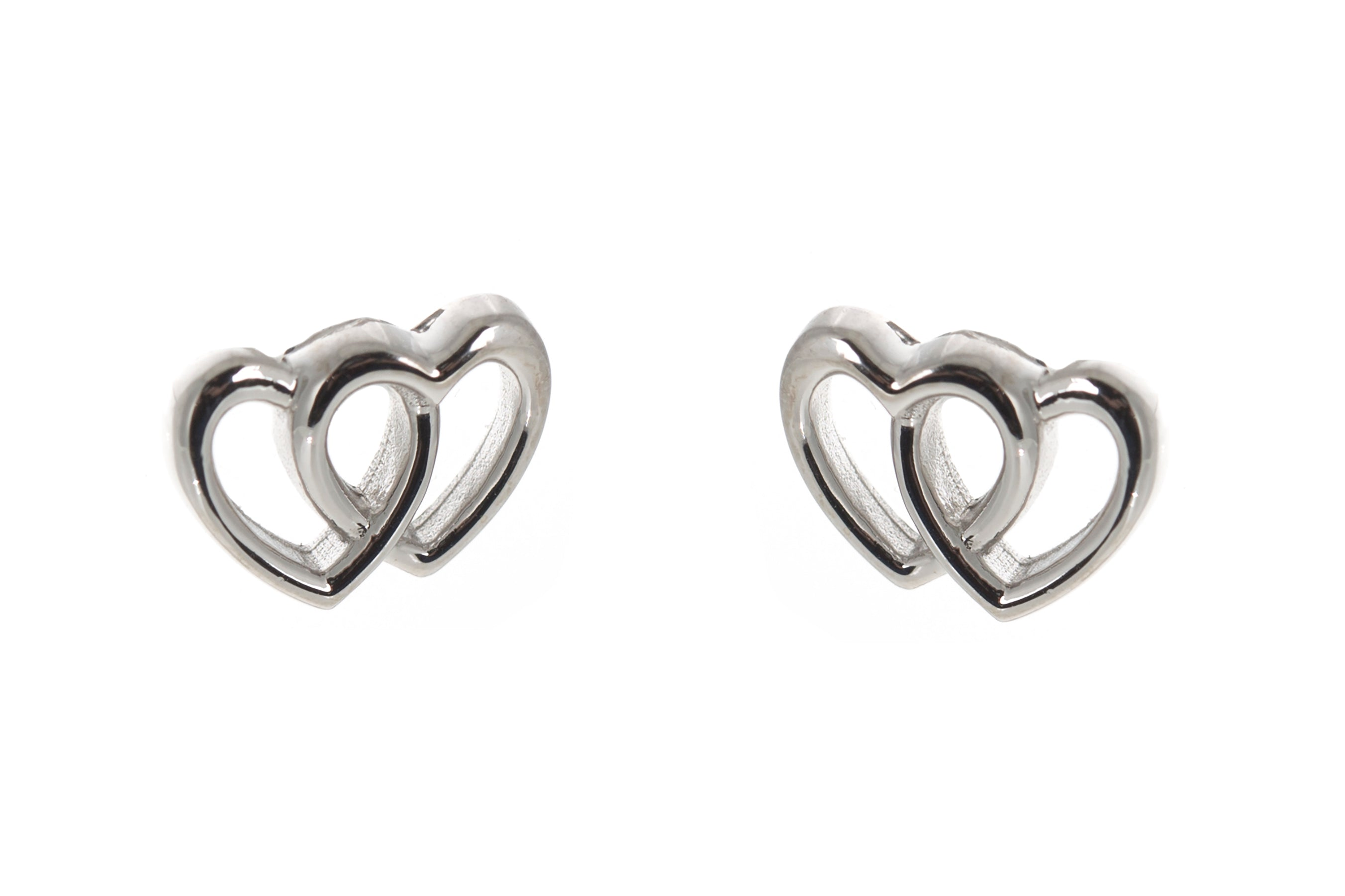 Linking hearts earrings