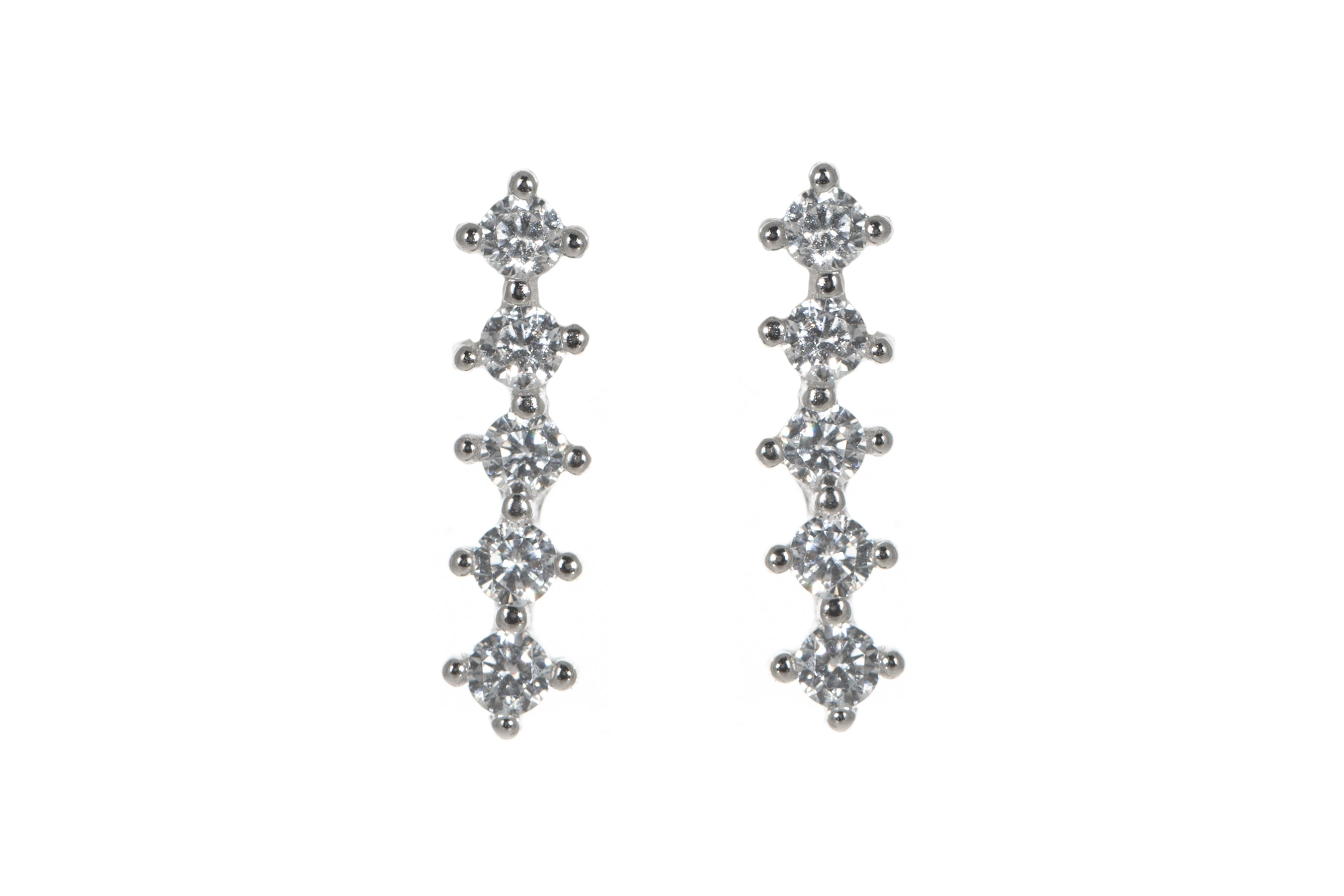 Glitzy bar earrings