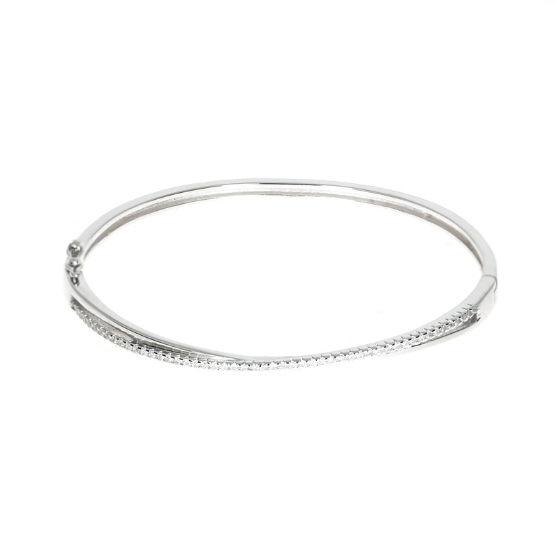 Glitzy criss cross bangle
