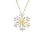 Regal snowflake pendant