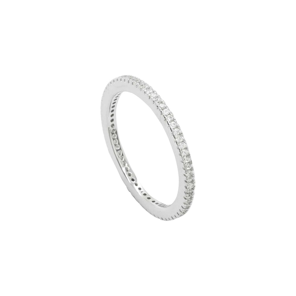 White CZ Eternity Band