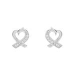 Ribbon heart earrings