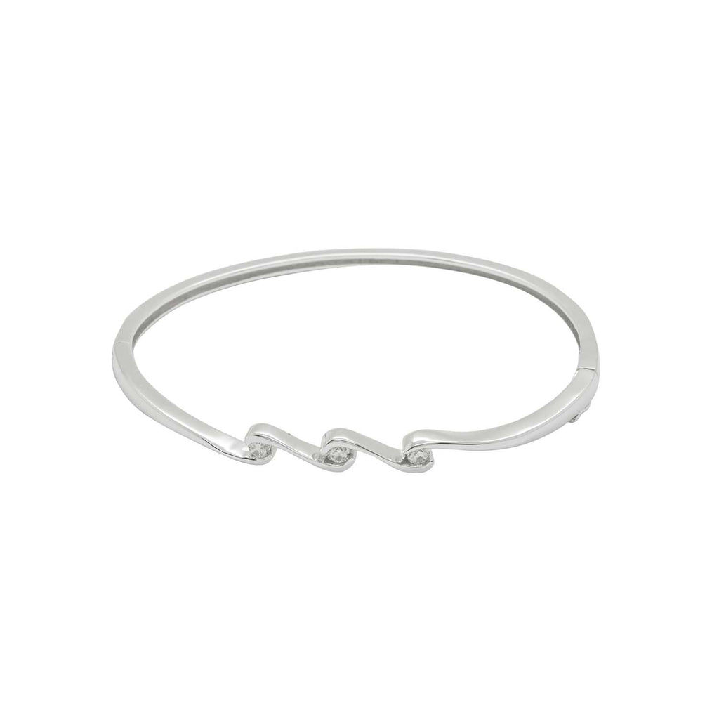 Triple wave bangle