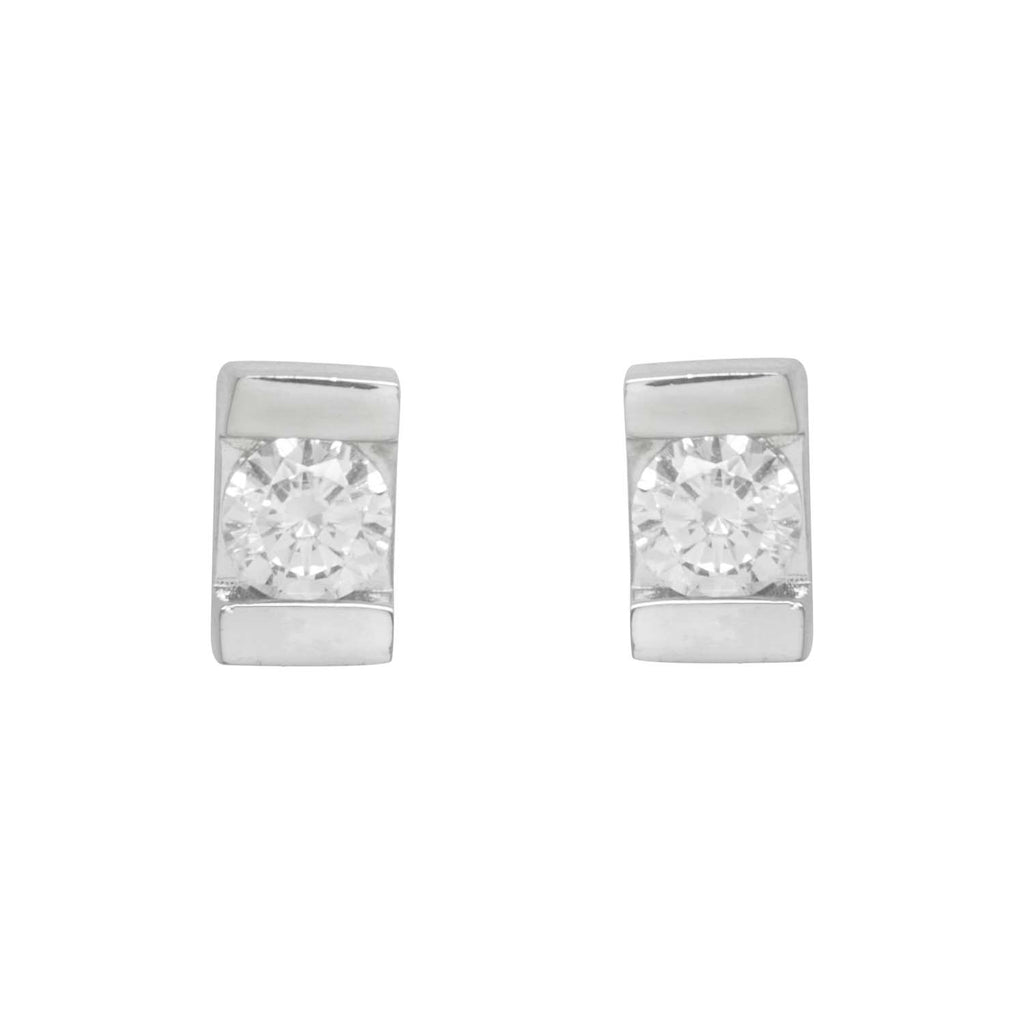 Sparkly rectangular earrings