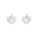 Wavy heart earrings
