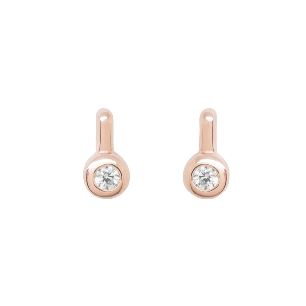 Circle Rose Gold Drop Earrings