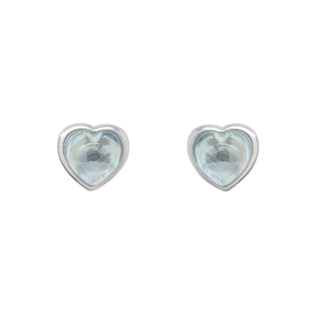 Ocean blue heart earrings