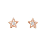 Star Shaped Rose Gold Stud Earrings