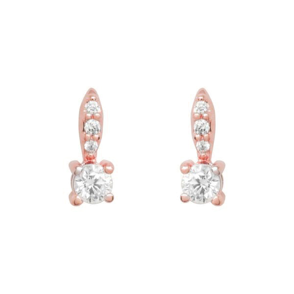 Glitzy blush stemmed earrings