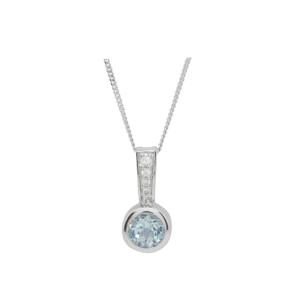Sky blue stalk pendant