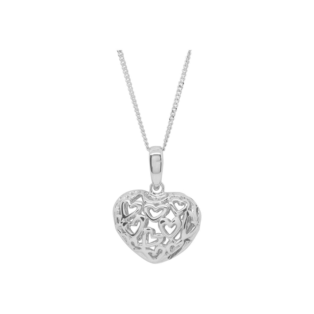 Squiggly hearts locket pendant