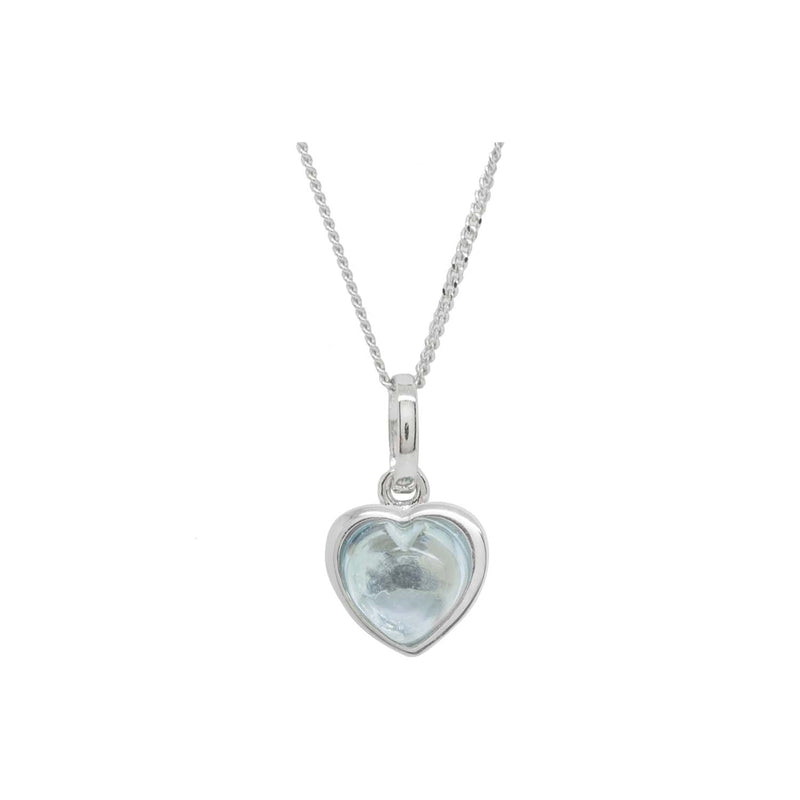 Sky blue heart pendant