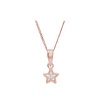 Dainty Star Shaped Rose Gold Necklace