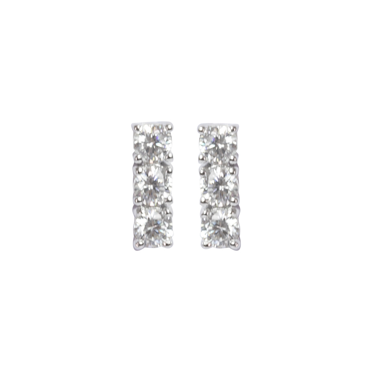 Trilogy sparkle earrings