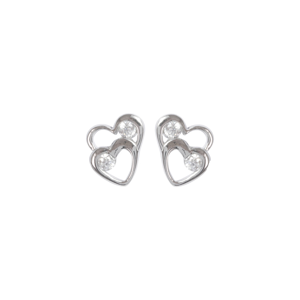 Sparkly double heart earrings