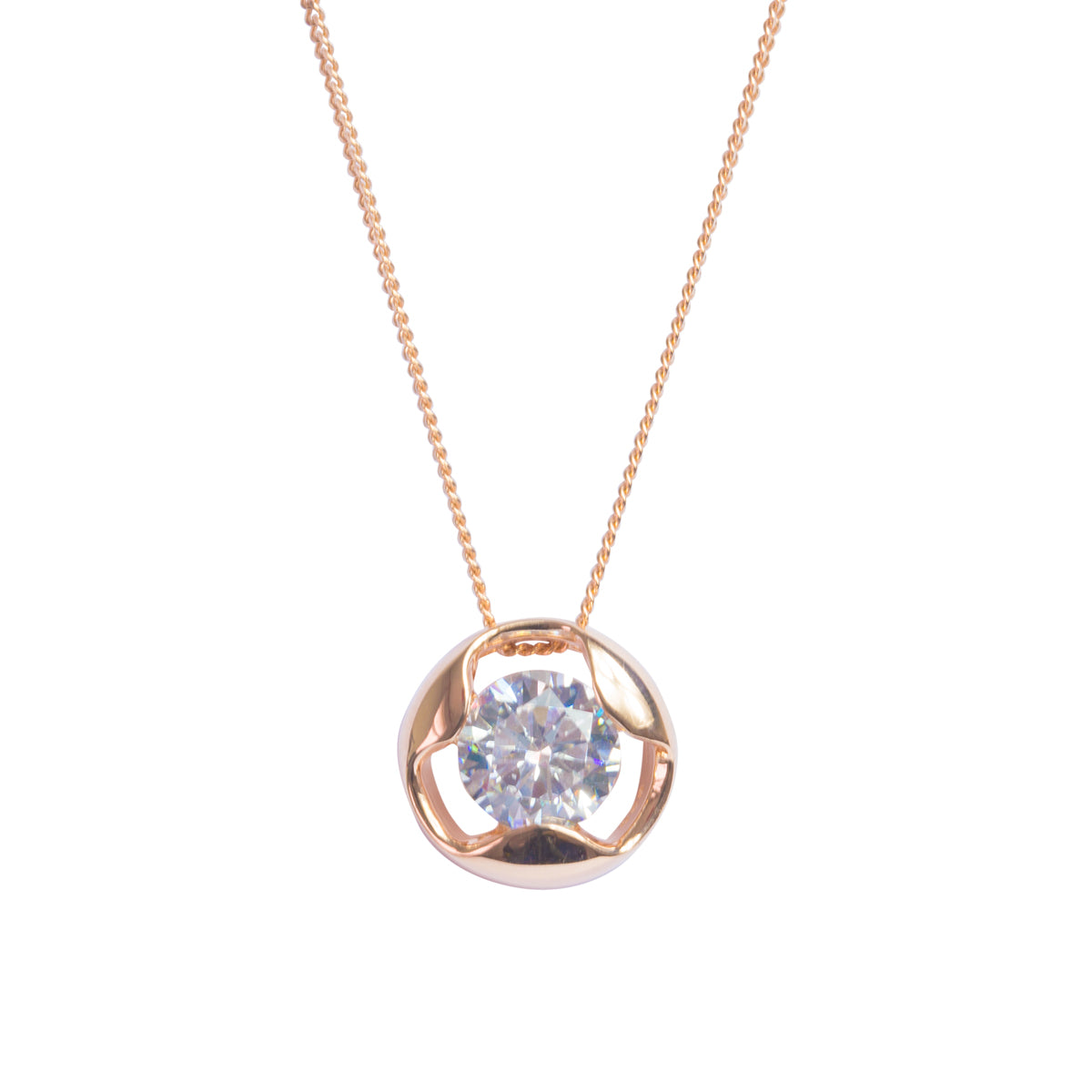 Blush Cut Out Rose Gold Necklace