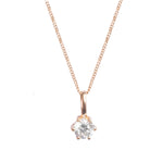 Sparkle Stone Rose Gold Necklace