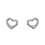 Shiny open heart earrings