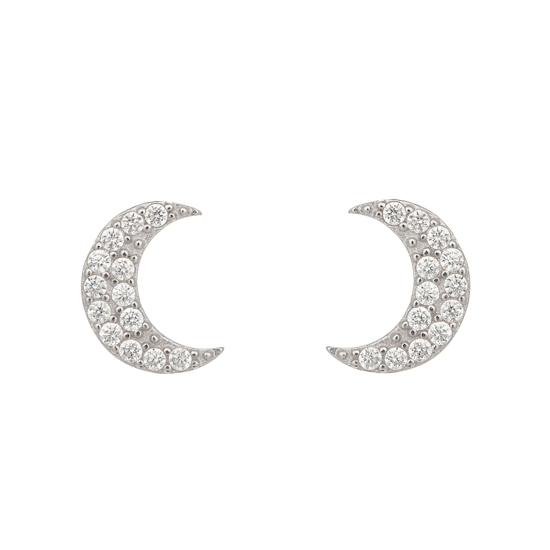 Glistening moon earrings