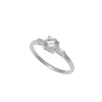 Silver Oval CZ & Micro Pave Ring