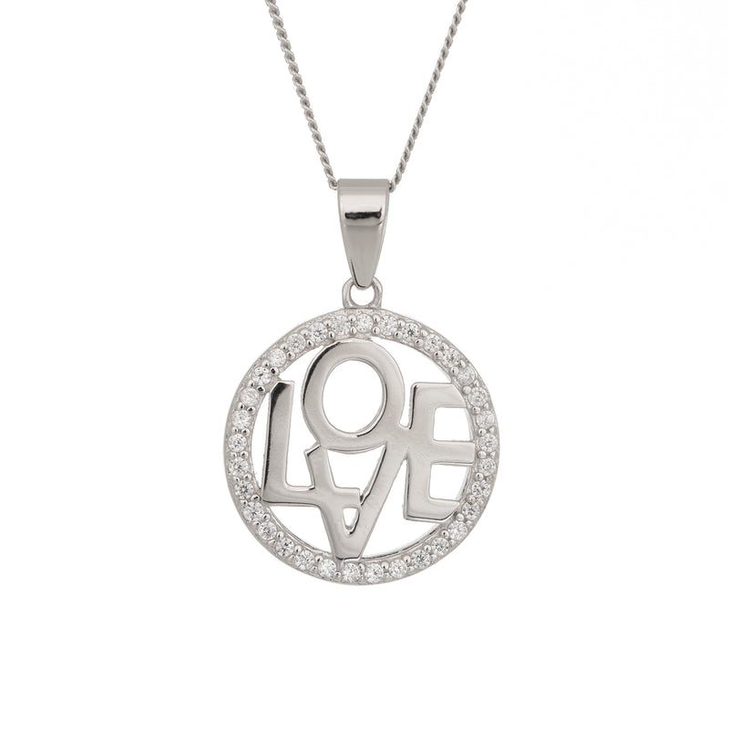 Love disc pendant