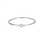 Circular Crossover Sterling Silver Bangle