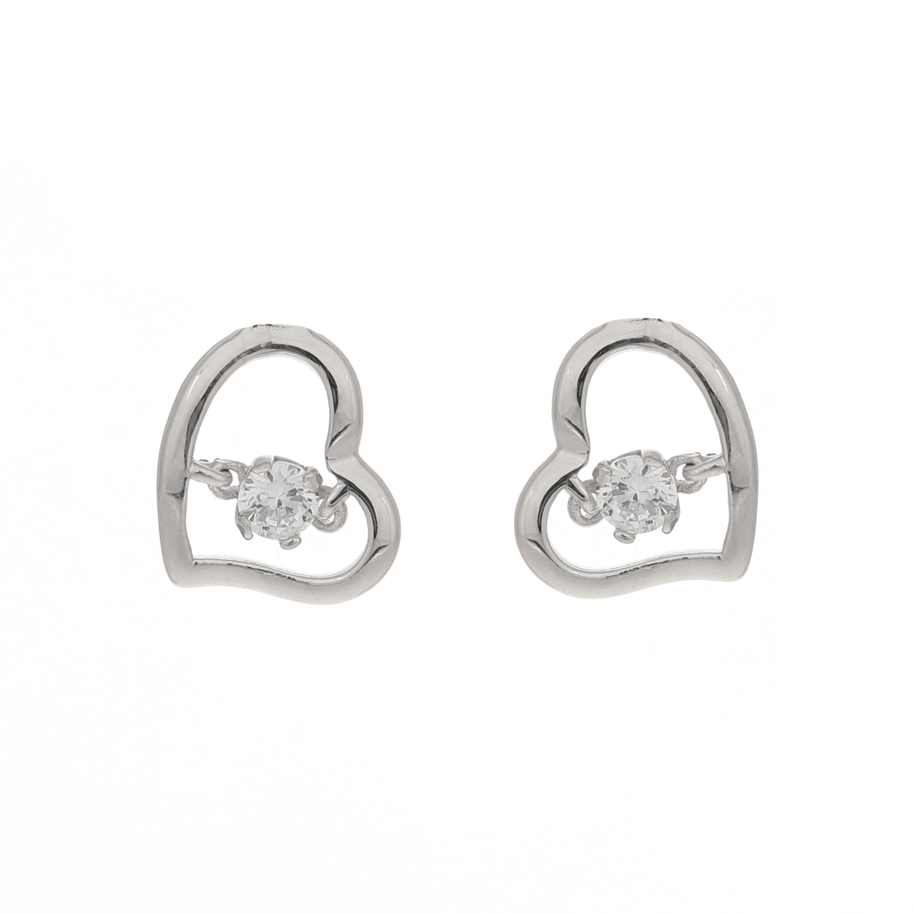 Sparkly-open heart earrings