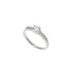 Silver Micro Pave and CZ Ring