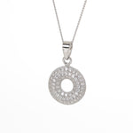Glitzy doughnut shaped pendant