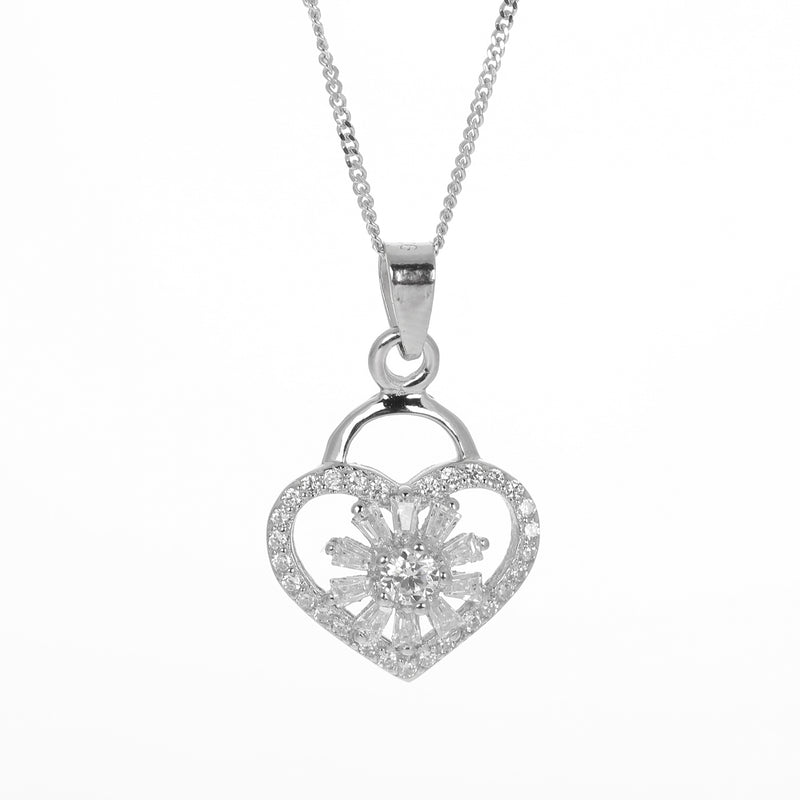 Heart locket style pendant