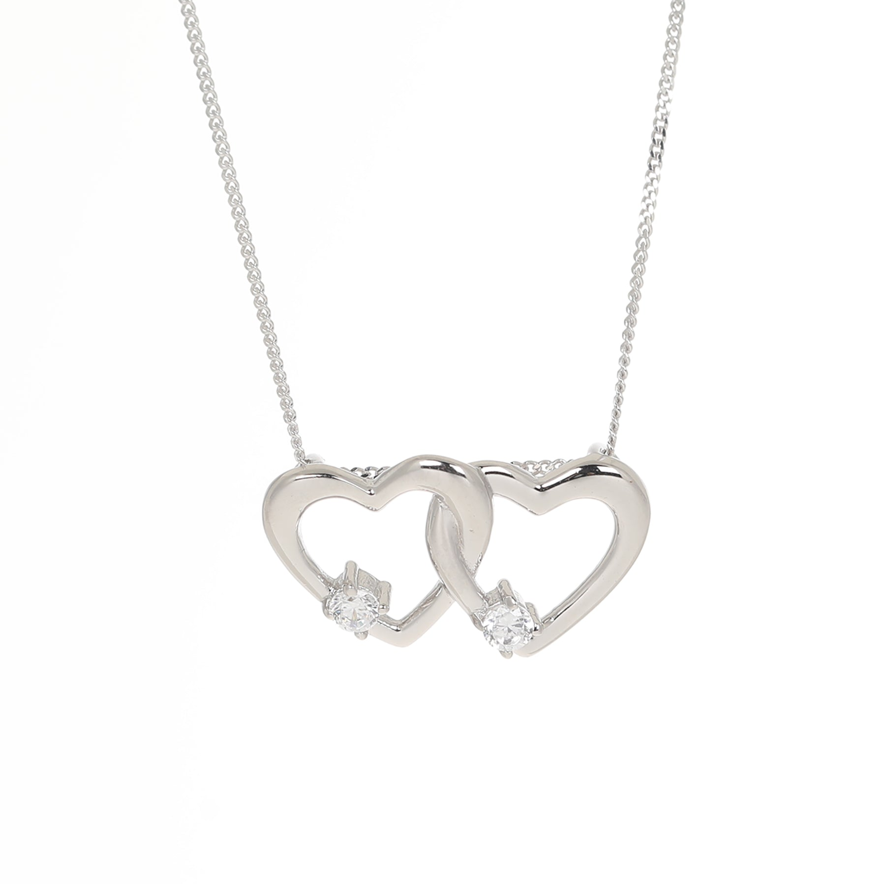 Twin hearts pendant