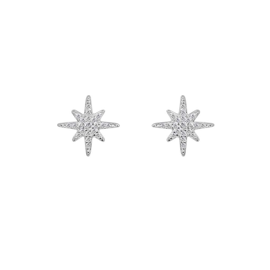 Silver Aurora earrings