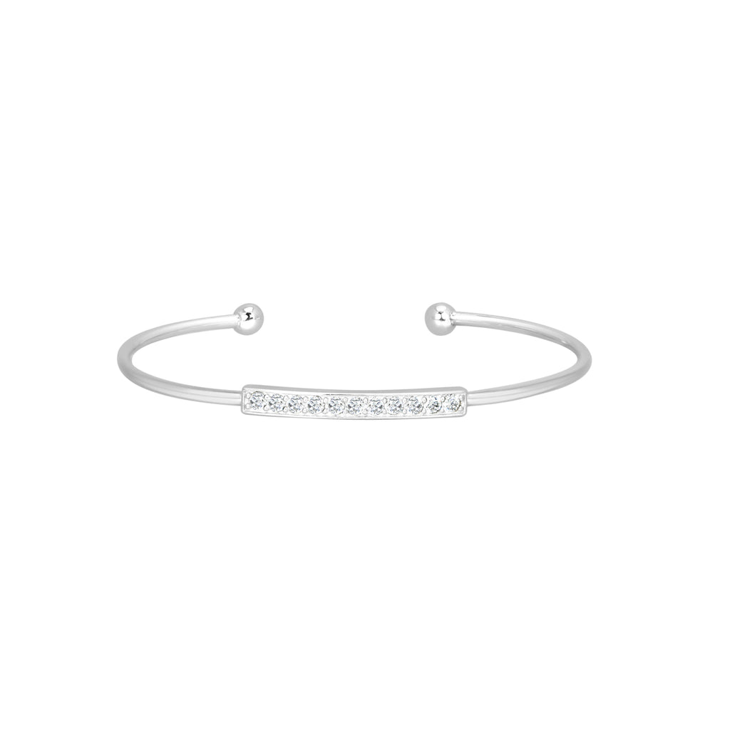 Silver Ingot torque bangle