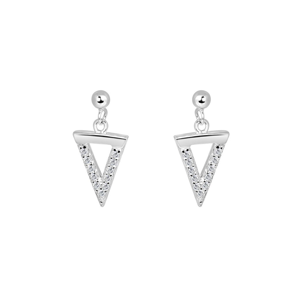 Silver Bermuda dropper earrings