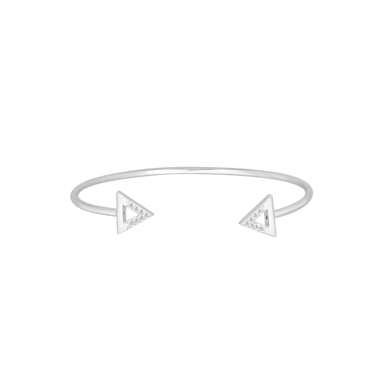Silver Bermuda torque bangle