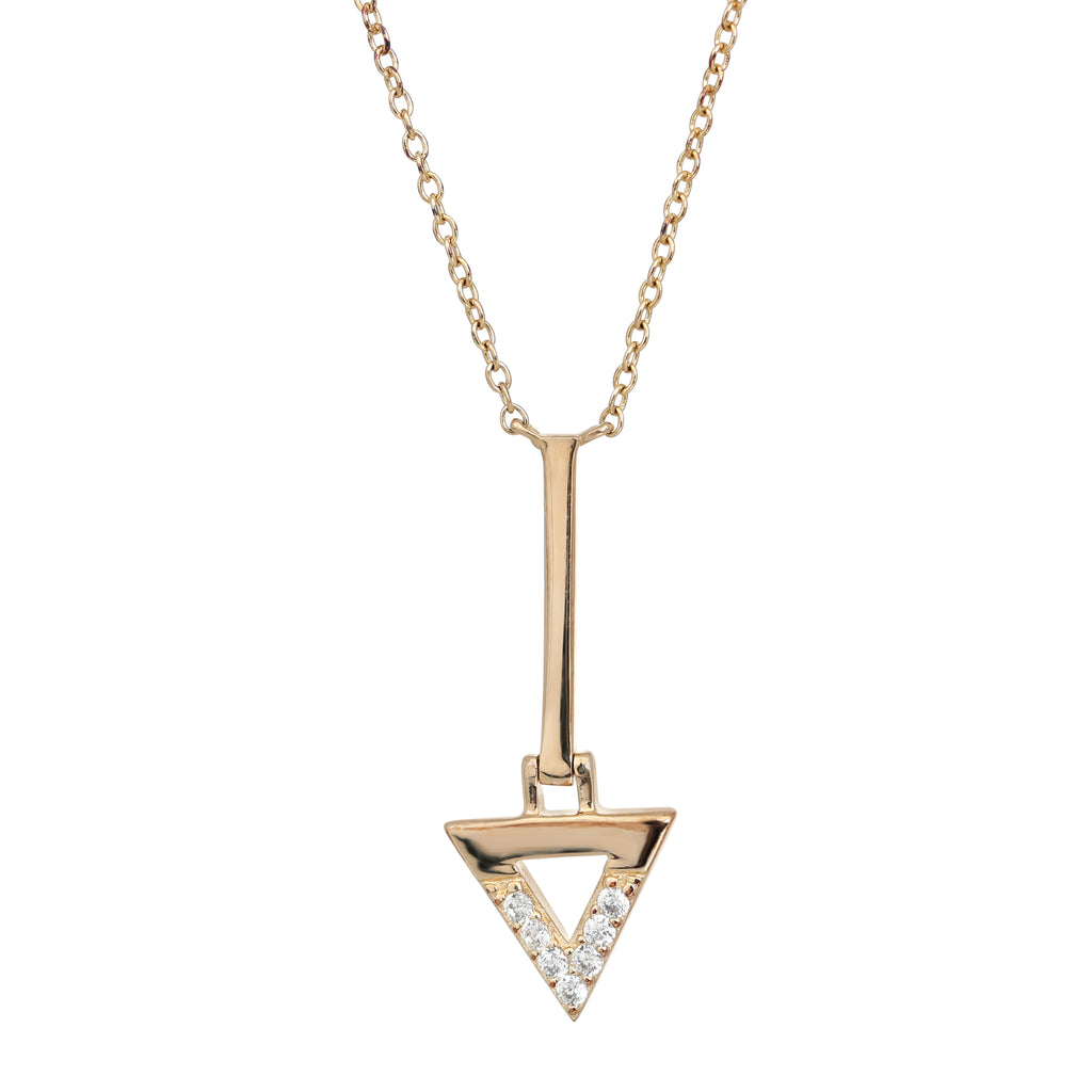 Gold plated bermuda bar necklace