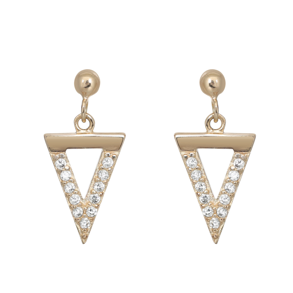Gold Bermuda earrings