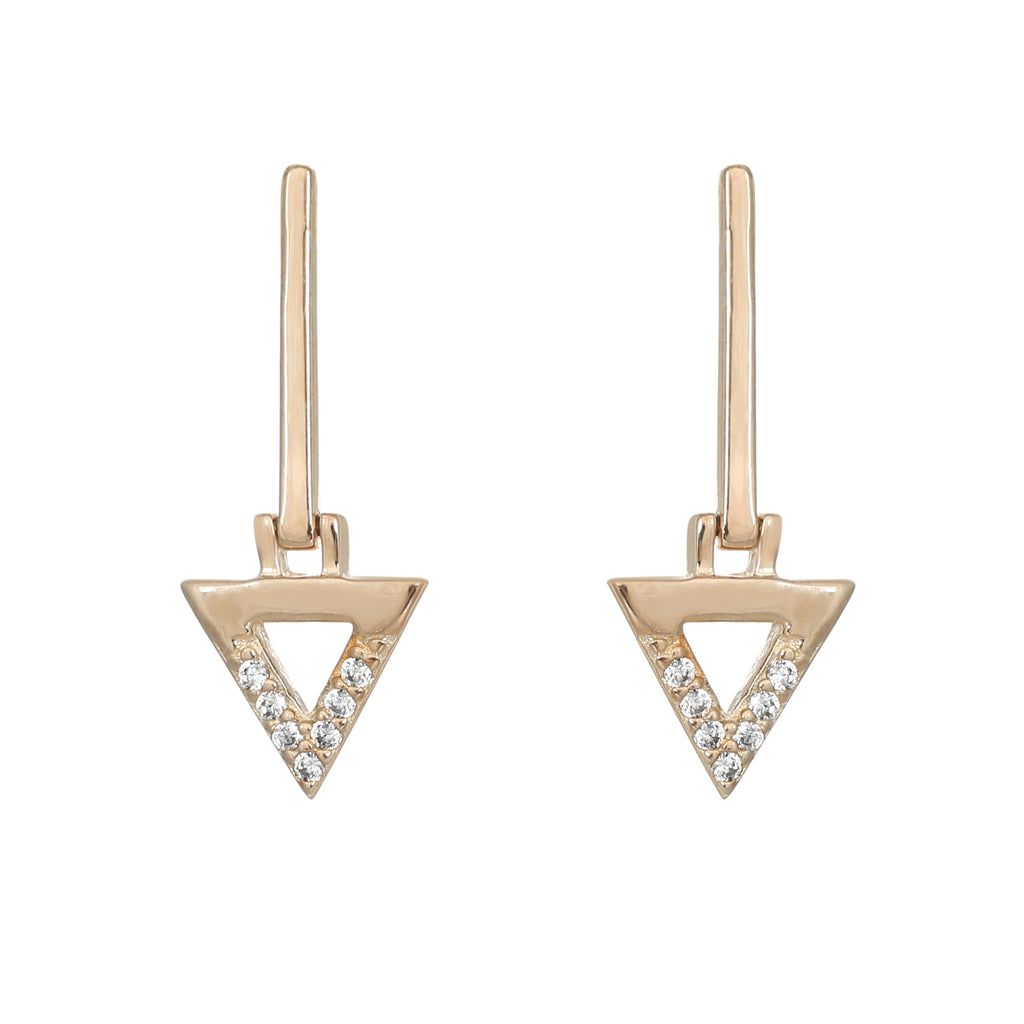Gold plated bermuda bar earring