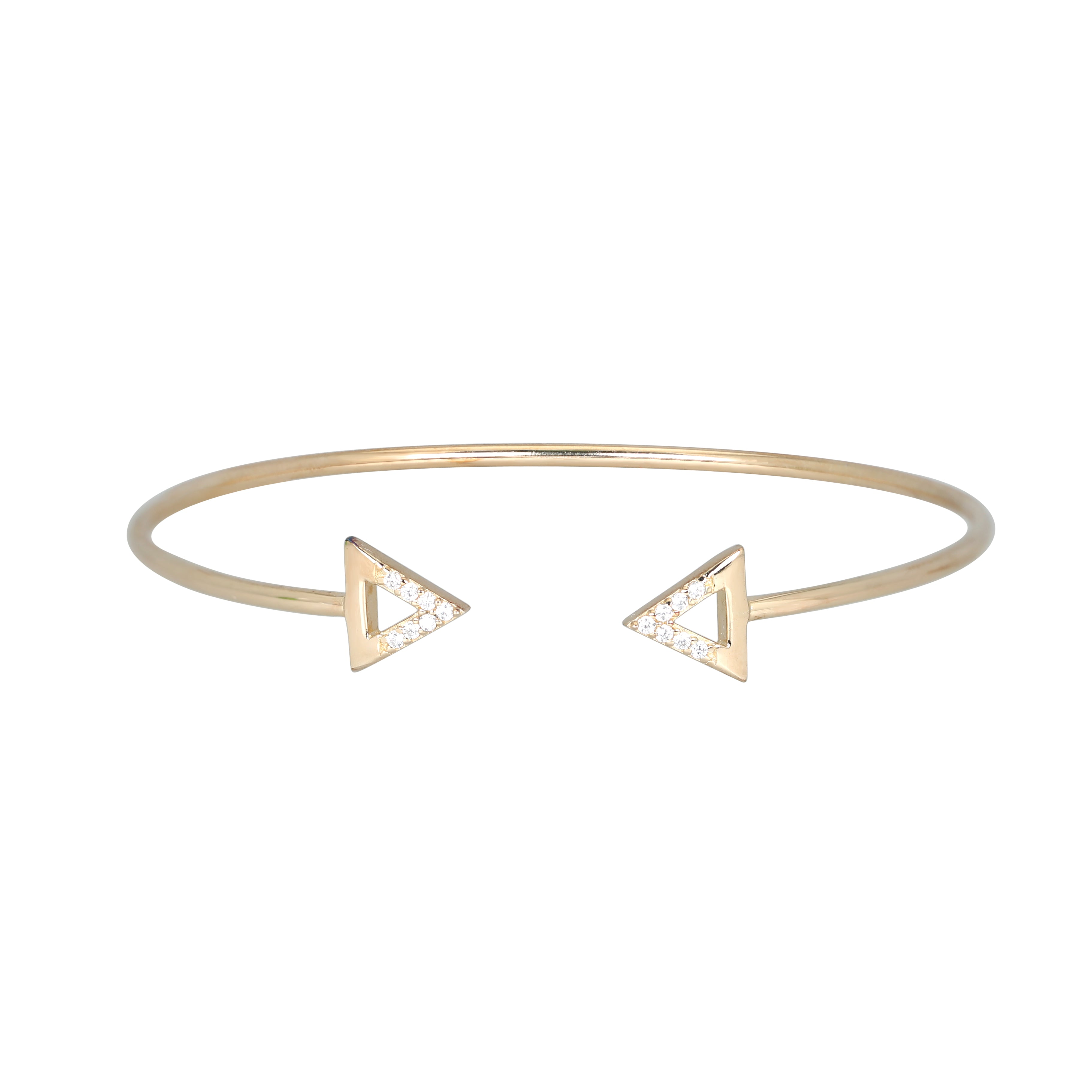 Gold plated bermuda torque bangle
