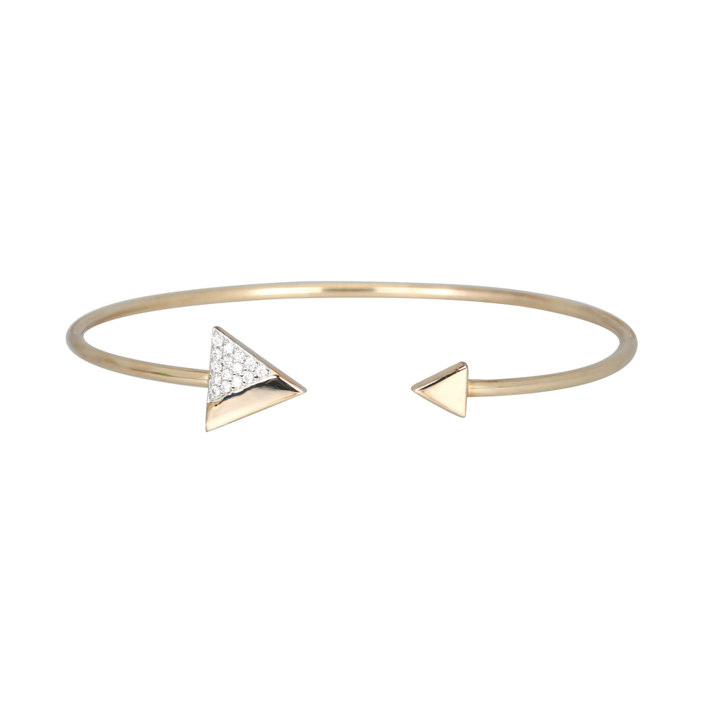 Gold plated trillion torque bangle