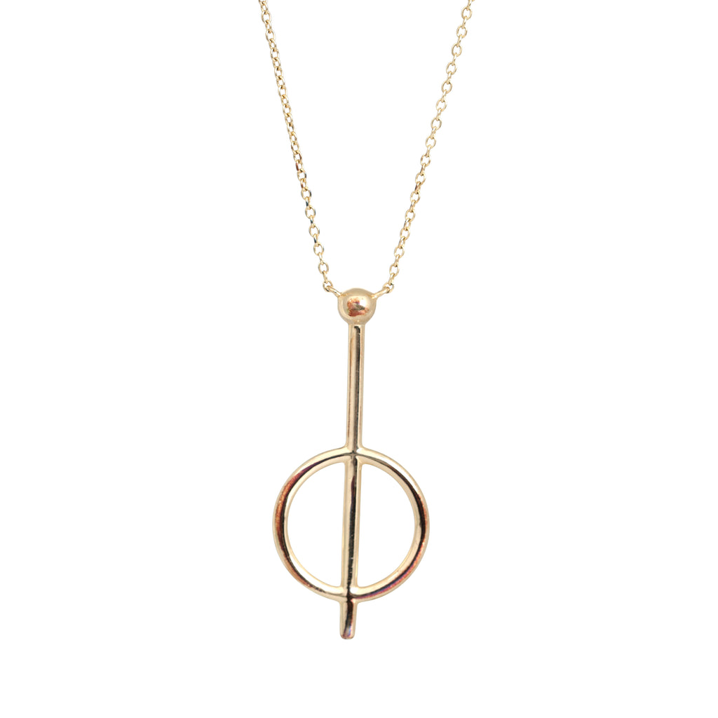 Gold plated cirque necklace