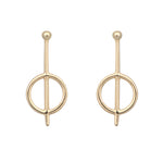 Gold plated cirque earrings