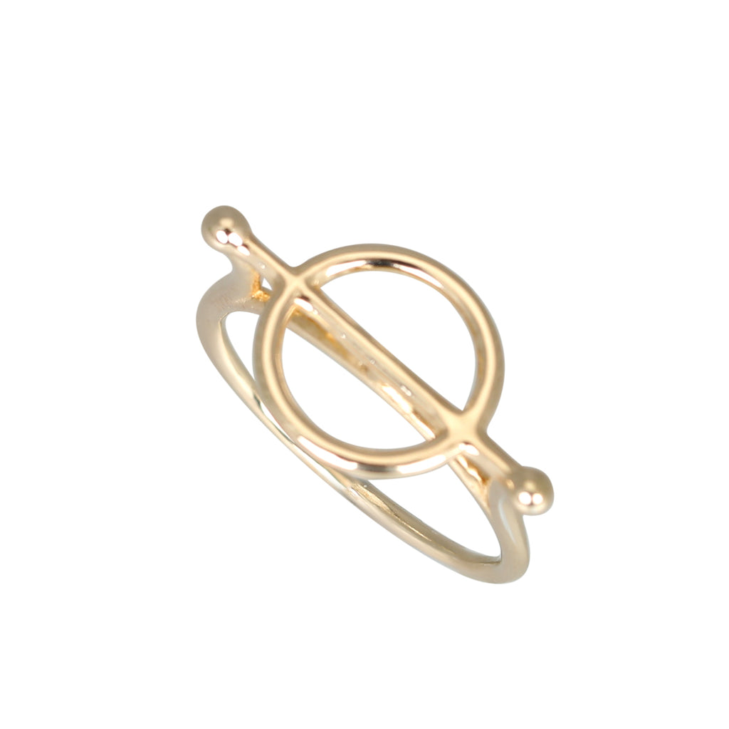 Gold plated cirque ring