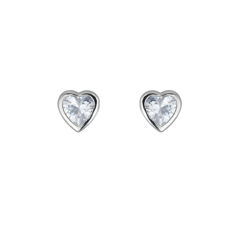 Sparkle Heart Stud Earring