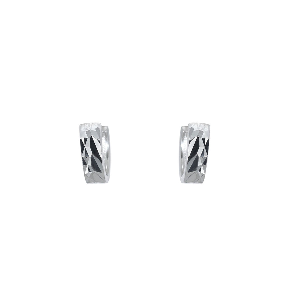 Diamond Cut Huggie Earring